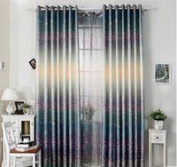 Wholesale One side printed polyester curtain Rural and pure and fresh style Window shade Can be zero shear