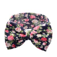 Wholesale Baby Kids Girl Toddler Infant Flower Floral Hairband Turban Rabbit Bowknot Baby Headband Headwear Hair Band Accessories