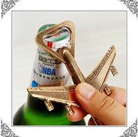 airplane grade aluminum - Wedding gift vintage Airplane beer the bottle opener high grade alloy aircraft beer openers with packaging
