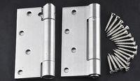 Wholesale 4 inch stainless steel automatic concealed spring door hinge closing speed adjustable double door spring hinge