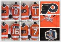 barber jersey - 2016 Philadelphia Flyers Jerseys Throwback CCM Hockey Jersey Bernie Parent Bill Barber Dave Schultz Bobby Clarke Jersey