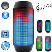 Wholesale A50 Portable LED Light Puse Wireless Blutooth Mini Speaker with FM Handsfree Mic TF Slot for Iphone Samsung Audio Music Player