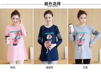 Wholesale The new pregnant women in the fall of cotton long sleeved pregnant women T shirt fashion blouse16149