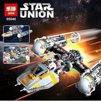 attack building - LEPIN Star Wars Y wing Attack Starfighter Model Building Kits Minifigure Blocks Bricks Compatible Toys Gift