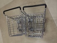 Wholesale the big items for European and American style shopping Cart Mobile Phone Holder Pen Holder Mini Supermarket Handcart Shopping Utility Cart