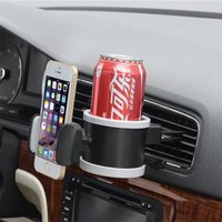 Wholesale 1pcs Car Outlet Plastic Drink Holder Car Air Conditioning Outlet Cup Holder Car Cup Phone Holder