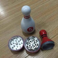 alloy bowl - Latest Bowling ball Grinder bowling Grinders Herb Grinders Metal Zinc Alloy Plastic Metal Grinders Parts Grinders with Display Box DHL Fre