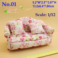 Wholesale 1 scale Dollhouse Miniatures Furniture Love seat Overstuffed Sofa Cushion