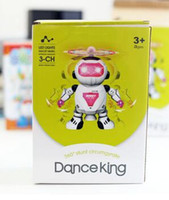 Wholesale The new dancing electric robot degree rotation with light music toy stall hot worth having