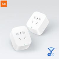 Wholesale Original Xiaomi Smart Socket Intelligent Plug Basic WiFi Wireless Remote Accept EU US AU Plug Adaptor Power on off with phone