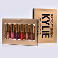 Wholesale In stock kylie birthday edition collection matte liquid lipsticks Lipstick Kylie set with Eyekiner cosmetics SET kylie jenner lip kit