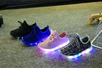 Wholesale 2017 Led shoes for kids Children shoes New Autumn Breathable shoes for girls boys Kids Sport Brand Light