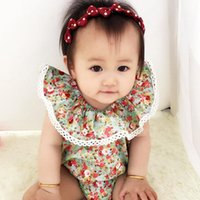 Wholesale Baby Girls Floral Print Jumpsuits Off Shoulder Baby Summer Clothing for Boutique Foreign Trade Hot Sale Infant Girls One piece Rompers