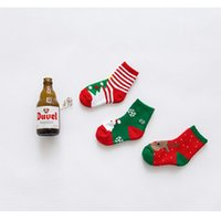 Wholesale new Autumn Winter y Baby Cotton Terry socks for Kids Boys and Girls Children short Christmas Socks gift WA1686