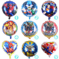 Wholesale 50pcs Super Hero Inflatable Balloons Superman Batman The Avengers Big Hero Foil Balloon Decorations Cartoon Air Balloon Toys Gift