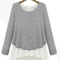 Wholesale Autumn Spring New Design Womens Casual Pullovers Thick O neck Loose Long Sleeve Sweater Knitted Blouse Khaki Gray KH653114