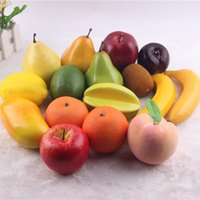 Wholesale Simulation Fake Fruit Apples pears peaches bananas and many Vegetables Suit Platter Foam Model Home Restaurant Decoration Teaching Props