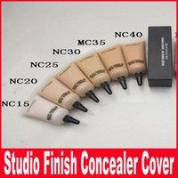 Wholesale NEW makeup mc SELECT COVER UP CACHE CERNES concealer liquid Foundation NC15 NC40 ML Liquid Concealer Makeup Face