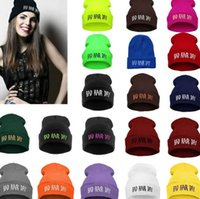 acrylic yarn for hair - Street hat Bad Hair Day Beanie hat Knitted Logo Beanie Hats Blank Hip Hop Designer Winter Pom Beanie Hats with Stretch Wool for Women men