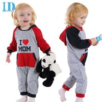 baby clothes dad - IDGIRL Brand Love DAD MOM Baby Clothes Spring Autumn Hooded Baby Rompers Long Sleeve Jumpsuit Outwear Baby Boy Clothes JY0198