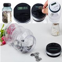 banks coin counters - Clear Digital Money Coin Counter Jar Electronic Piggy Bank With LCD Unique Saving Money Money Boxes