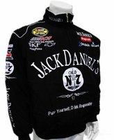 Wholesale Black men Jack Daniel winter cotton jacket MOTO GP motorcycle auto driver f1 sport jackets coat