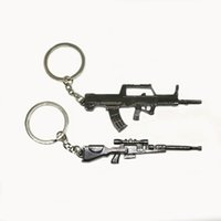 Wholesale DHL Cheap Funny Guns Model Metal Keyring Cute Design Gun Shape Keychain For