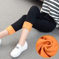 Pockets alpaca pants - Alpaca Cashmere Soft Warm Jeans women Winter Elasticity High Waist Pants Velvet Thicken Black jeans Female Winter Plus Size