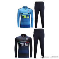 Wholesale Thai quality Italy Training Football Training suit long sleeve soccer Soccer tracksuit pants free ship