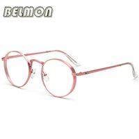 Las gafas de sol redondas retras al por mayor miran el espectáculo óptico de los vidrios de la miopía de los hombres de las mujeres del ordenador de las mujeres para la lente transparente masculina RS040 de las mujeres