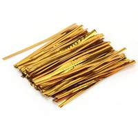 Straw bags for candy bar - DHDL Gold Metallic Twist Ties for Cello Candy Bags Party cm