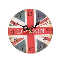 Wholesale High Quality Vintage Style Non Ticking Silent Antique Wood Wall Clock