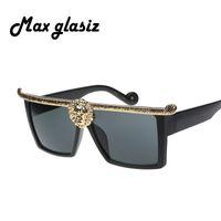 as pic anna fashion designer - Hot selling Medusa Anna Karin Karlsson men sunglasses Gold D Lion fashion brand designer sun glasses eyewear oculos masculino