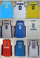 Basketball adams shirt - 2017 New Russell Westbrook Basketball Jerseys Orange Russell Westbrook Steven Adams Shirts Stitched Basketball Jersey Cheap Mens S XXL