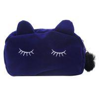 big blue store - Big Cute Kawaii Cartoon Deep Blue Cat Pen Pencil Bag Holder Pouch Stationery Store School Tools