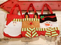 Wholesale New Christmas s style convenience santa claus and snowman pattern beautiful and jubilant gift bag sweet bag