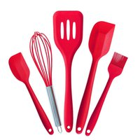 Wholesale Silicone Kitchen Cake Tools Bakeware Set Silicone Utensils Brush Egg Beater Spatulas Drain Shovel Baking Tools F234