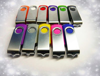Wholesale 20pcs Metal Plastic real capacity GB GB GB GB GB GB GB Swivel custom USB Flash Drive Pen Disk Customized LOGO memory stick