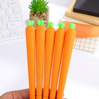 Wholesale pc cute carrots gel pen black ink plant gel pen for promotion gift kid s toy school supplies