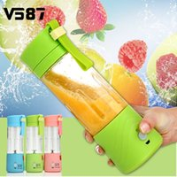 Wholesale Electric Fruit Juicer Machine Mini Portable USB Rechargeable Smoothie Maker Blender Shake And Take Juice Slow Juicer Colors
