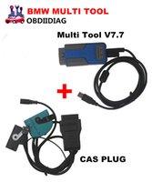 al por mayor bmw cas key-Para la herramienta multi de BMW V7.7 OBD2 CAS 1-4 programador dominante con el enchufe de CAS para agregar que hace la llave para el programador de BMW EWS CAS