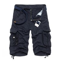 Wholesale Fifth short men s cotton summer new casual fashion frock multi pocket camouflage shorts without belt