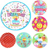 baby girl shower plates - cm Paper Plates Boy Girls Birthday Party Supplies Party Plates Baby Shower Cake Plate Colorful Style