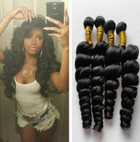Wholesale 8A Brazilian Human Hair loose wave Virgin Hair Bundles Unprocessed Peruvian Indian Malaysian loose Curly Hair Extensions No tangle