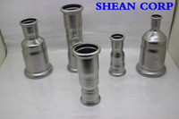 Wholesale stainless steel construction pipeline press fittings M V Profile Equal Coupling Pipe