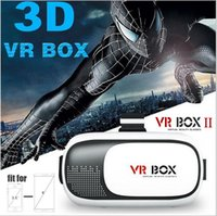 Wholesale VR Box Gamepad Virtual Reality D Glasses Helmet VR BOX Headset For Smartphone inch inch For IOS Android WP with Retail Package