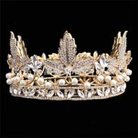 beautiful gemstone jewelry - Luxury Tiaras and Crowns Gold Rhinestones Hair Jewelry Beautiful Queen Quinceanera Sweet Girls Wedding Bride Crown