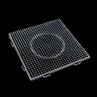 Wholesale Christmas Clear Square Large Pegboards Board For mm Hama Fuse Perler Beads Best Craft Gift for kids