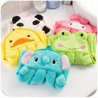 Wholesale 1529 cartoon coral velvet towel sweet thickened super soft absorbent towel hanging towel