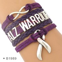 alzheimer disease - Pieces High Quality Alzheimer Disease and Dementia Awareness Ribbon Bracelet Purple Warrior Fight for Alzheimer Jewelry